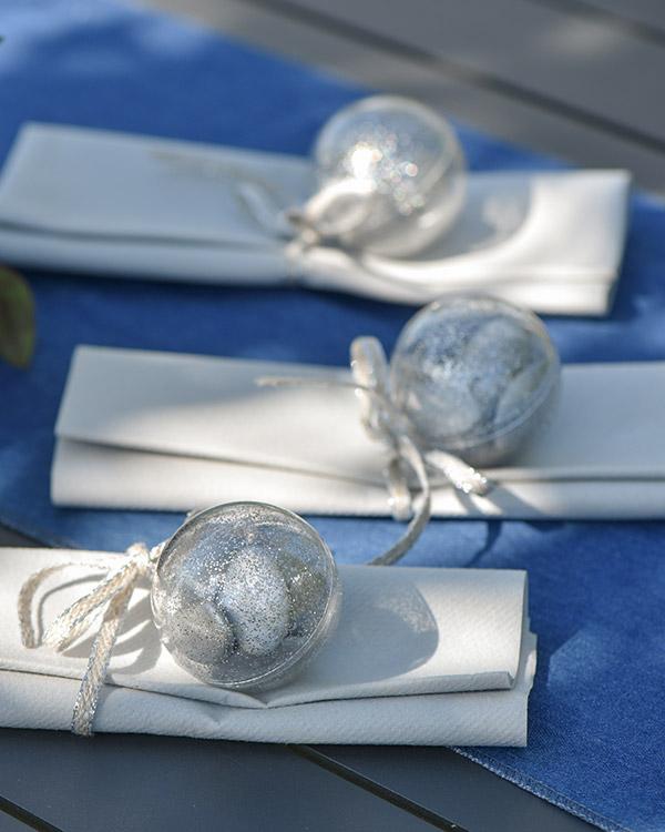 Godteball: Gull glitter ball - 8cm