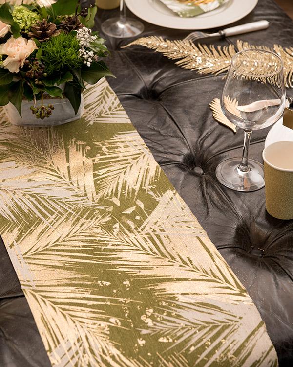 Bordløper: Palmeblader - Flere farger - 5m x 30cm