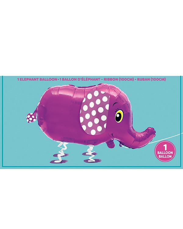 Folieballong: Gående Elefant - Folieballong: 81cm