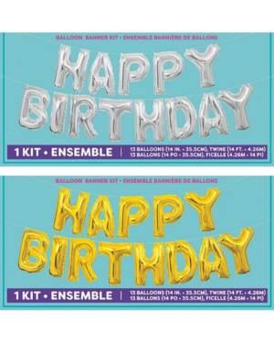 "Folieballong / Ballongbanner: ""Happy Birthday"" - 4,26m x 35cm"