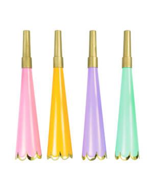 Fargerike foliehorn med bølgekant