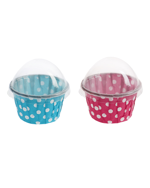 Give-away / Muffinsform med prikker