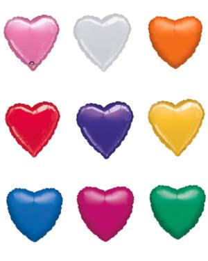 Folieballong: Hjerte - Flere farger (Metallic) - 43cm