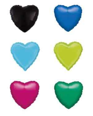 Folieballong: Hjerte - Standard - 43cm