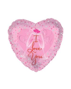 "Folieballong: ""I Love You"" - 45cm"