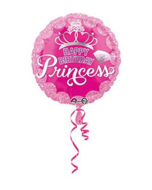 "Folieballong: ""Happy Birthday"" - Princess - 43cm"