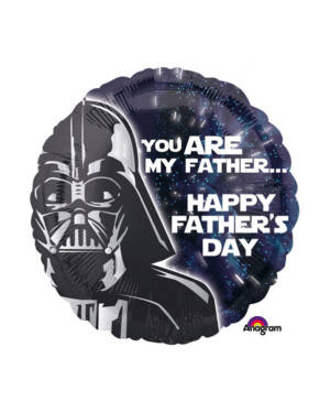 """Folieballong: Star Wars - """"You are my father"""" & """"Happy Father's Day"""" - 43cm"""