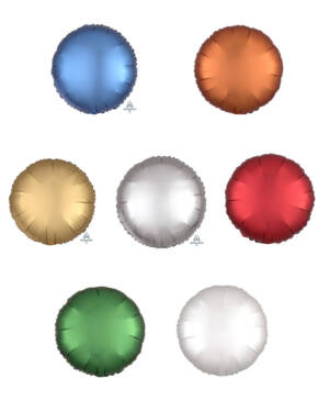Folieballong: Sirkel - Matt - 43cm