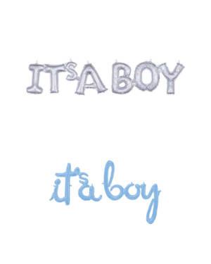 """Folieballong / Ballongbanner: """"It's A Boy"""""""