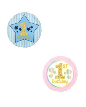 "Folieballong: ""1st Birthday"" - 43cm"