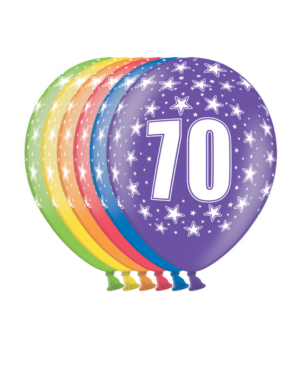 """Lateksballonger (6stk): """"70"""" - 30cm"""