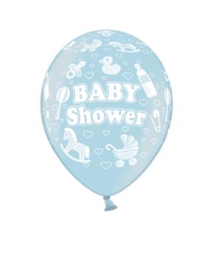 """Lateksballonger (6stk): """"Baby Shower"""" - 30cm"""