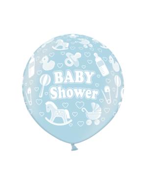 """Lateksballong: """"Baby Shower"""" - 90cm"""