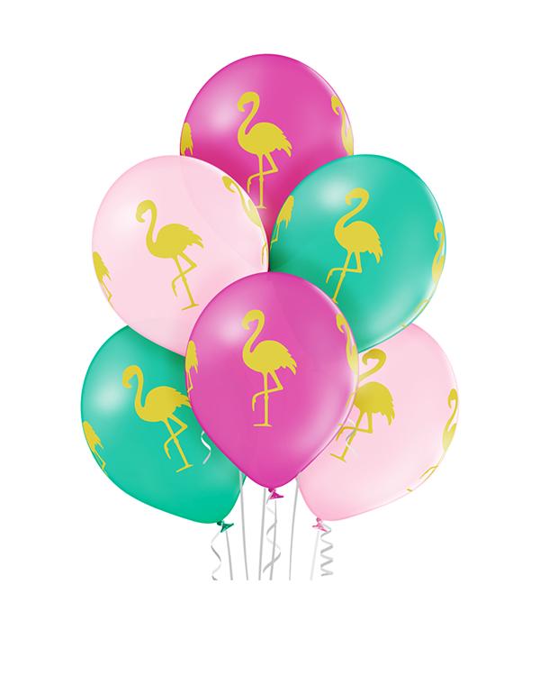 Lateksballonger (6stk): Flamingo - 30cm
