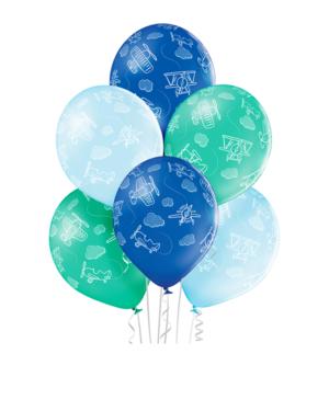 Lateksballonger (6stk): Fly - 30cm