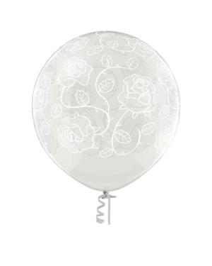 Lateksballong: Roser - 60cm - Crystal