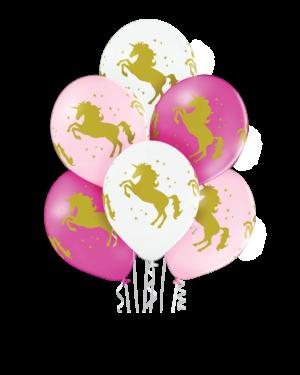 Lateksballonger (6stk): Enhjørning - 30cm
