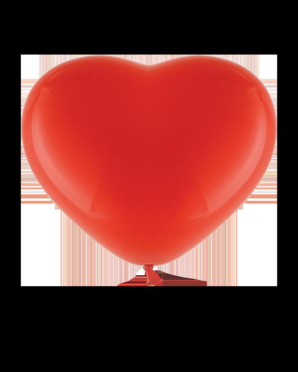 Lateksballonger (6stk): Røde hjerter (Pastel) - 28cm