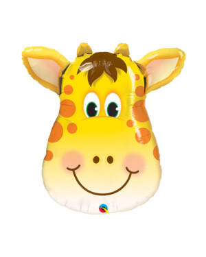 Folieballong: Glad Giraff / Sjiraff - 61 x 69cm
