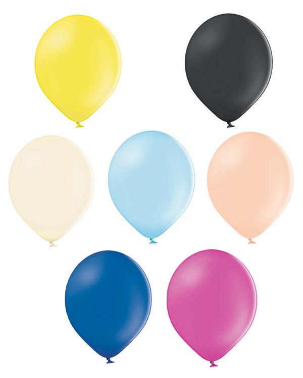Lateksballong: Pastel - 12cm - Per stk