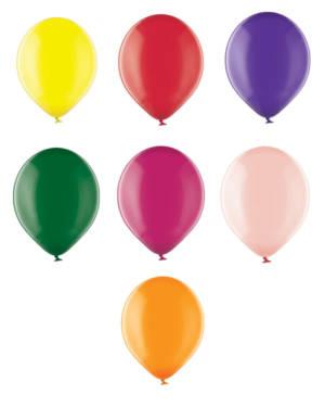Lateksballong: Crystal - Flere farger - 12cm - Per stk