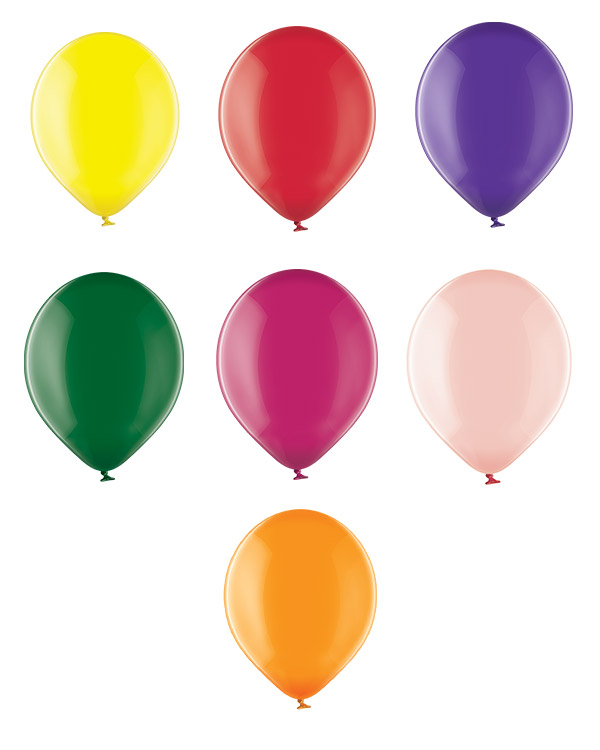 Lateksballong: Crystal - 12cm - Per stk