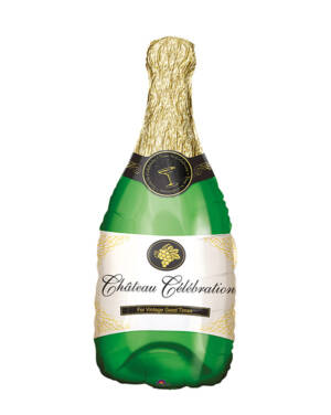 Folieballong: Champagneflaske - 35 x 91cm