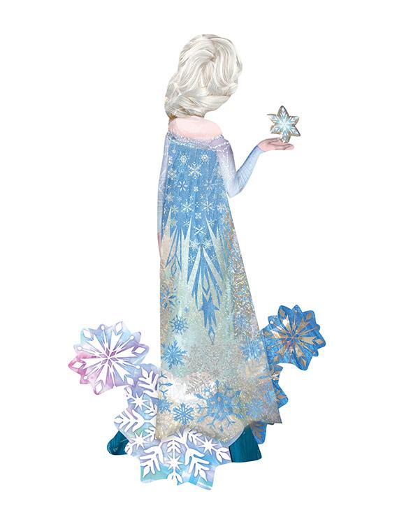 Folieballong: Gående Frozen Elsa - 88 x 144cm