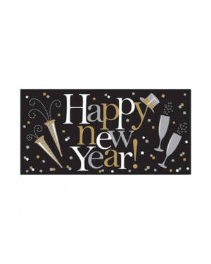 "Banner: ""Happy New Year"" - 165 x 85cm"