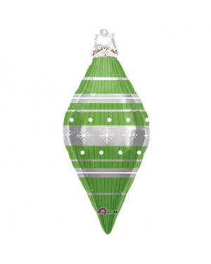 Folieballong: Julepynt - Grønn - 93cm