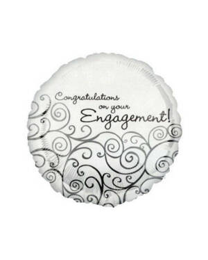 "Folieballong: ""Congratulations on your Engagement!"" - Forlovelse - 46cm"