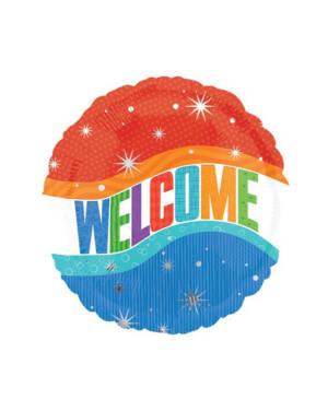 "Folieballong: ""Welcome"" - 45cm"