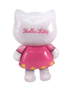 Folieballong: Gående Hello Kitty - 76 x 127cm