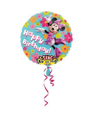 """Syngende Folieballong / Folieballong med musikk: """"Happy Birthday"""" - Minni Mus - 71cm"""