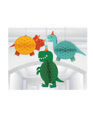Honeycombs (3stk): Dinosaurer