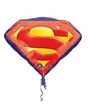 Folieballong: Superman emblem - 66 x 50cm