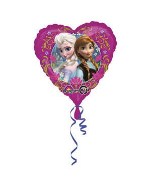 Folieballong: Hjerte - Frozen - 43cm