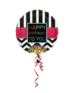 """Syngende Folieballong / Folieballong med musikk: """"Happy Birthday To You"""" - 71 x 71cm"""
