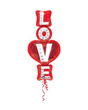 "Folieballong: ""Love"" Stablet - 50 x 99cm"
