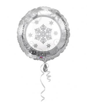 Folieballong: Glitrende Snøfnugg /Snøflak - 43cm