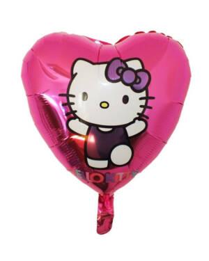 Folieballong: Hello Kitty - Hjerte - 45cm