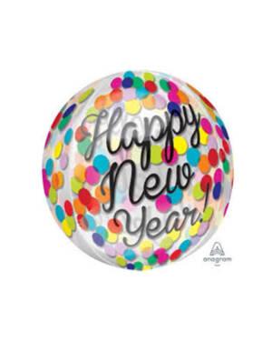 "Orbz: ""Happy New Year"" - Fargerik Konfetti - 38 x 40cm"