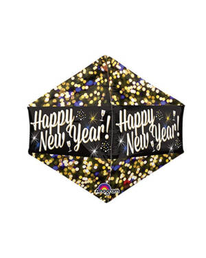 "Folieballong: ""Happy New Year - 43 x 53cm"