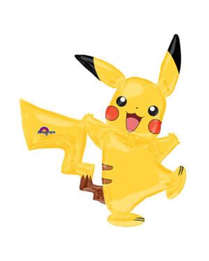 Folieballong: Gående Pikachu / Pokemon - 132 x 139cm