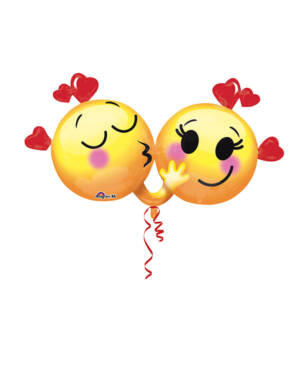 Folieballong: Emoticon - Love - 91 x 53cm