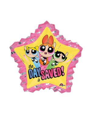 "Folieballong: Powerpuff Girls - ""The Day is Saved"" - 81 x 86cm"
