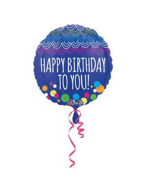 "Folieballong: ""Happy Birthday To You"" - 43cm"