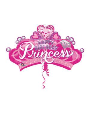 "Folieballong: Prinsessekrone - ""Princess"" - 81 x 48cm"