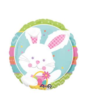 Folieballong: Hare med egg - 43cm