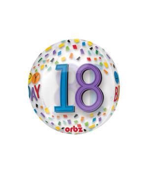 "Orbz: ""Happy Birthday"" ""18"" - 38 x 40cm"